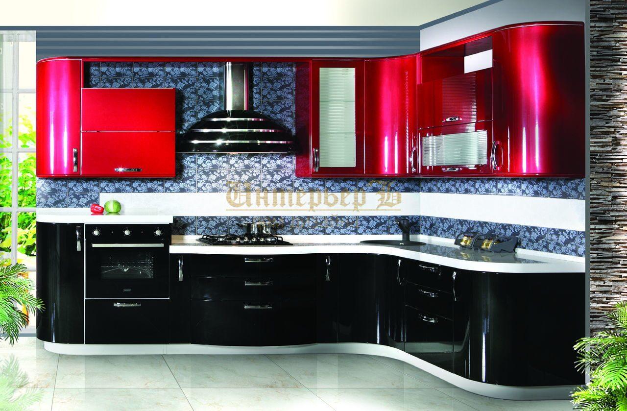 Красная черная кухня фото дизайн